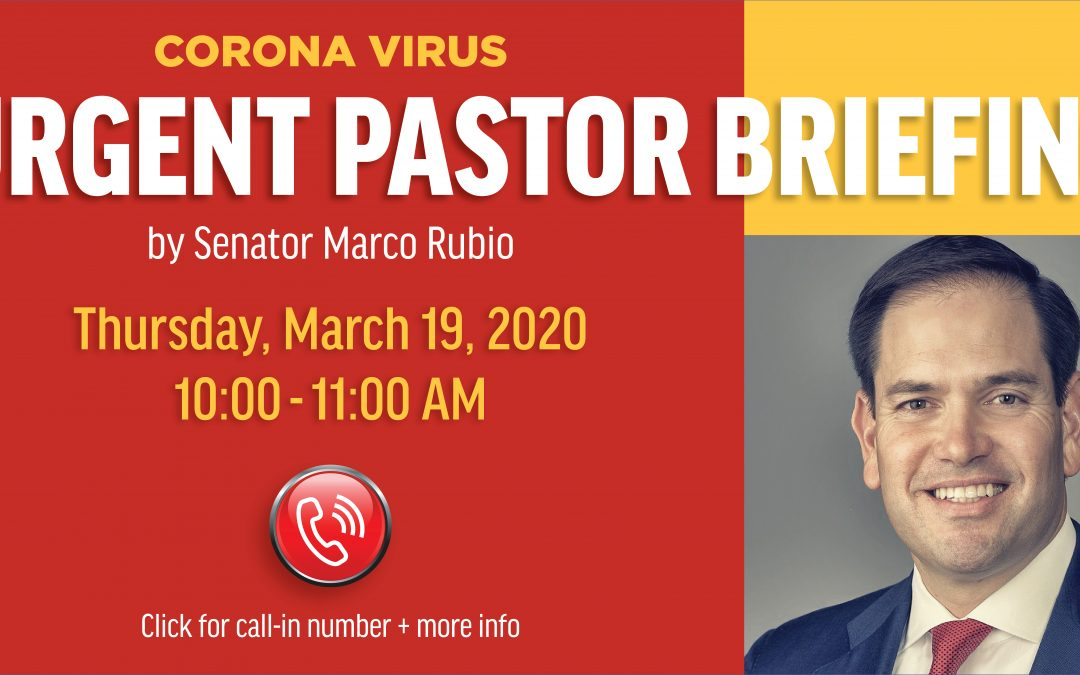 Coronavirus Briefing with US Senator Marco Rubio
