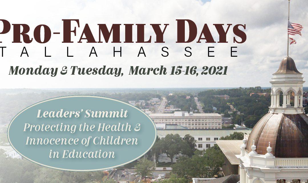 Register Now for Pro-Family Days 2021