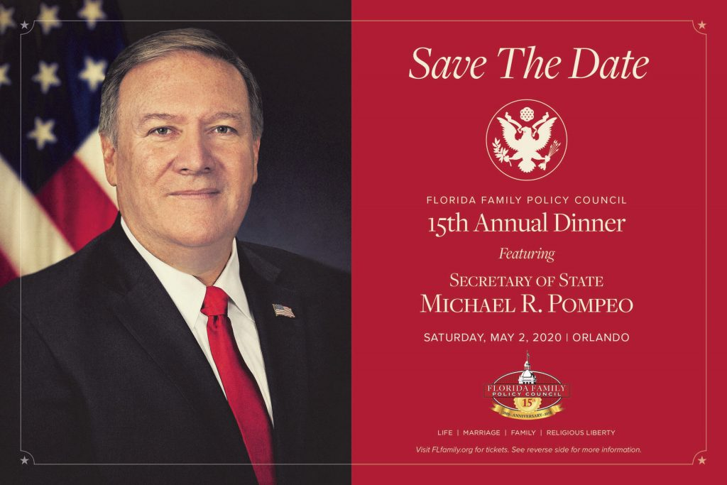 secretary of state michael pompeo, mike pompeo, 15th annual dinner, mike pompeo